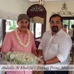 Khalid bin Abdulla Al Khalifa visiting Ultra Luxury Houseboats with spice routes