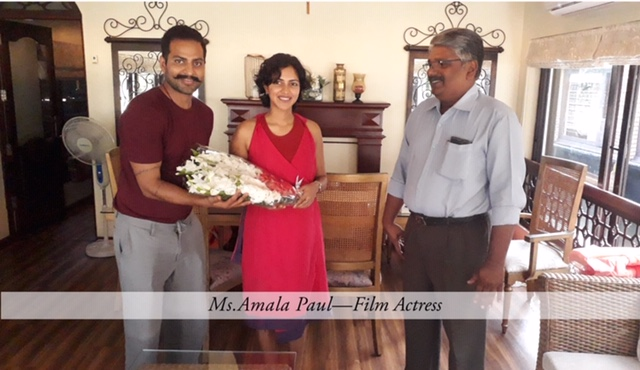 Amala Paul visiting Ultra Luxury Houseboats with spice routes