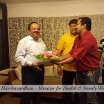 Mr.Harshvardhan minister of Health & family welfarevisiting Ultra Luxury Houseboats with spice routes