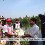 Mr.Sunil Lanba cheif of staff, Indian Navy visiting Ultra Luxury Houseboats with spice routes