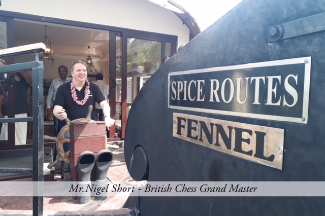 Mr.Nigel Short, British Chess Gradn Master visiting Ultra Luxury Houseboats with spice routes