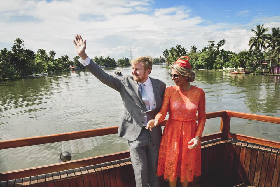 King Willem-Alexander & Queen Maxima of The Netherlands in kerala houseboat tour with Spice Routes