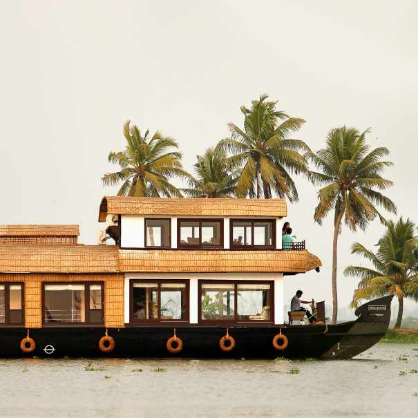 Saffron is one of the premium houseboats in Alleppey from Spice Routes